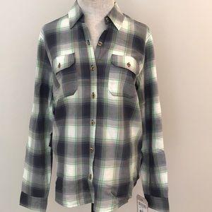 Dickies women long sleeve shirt 100% cotton M NWT
